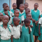 Orphans with school uniform