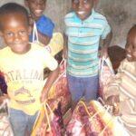 Donation of ten blankets for twenty children