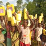 Water fetching / second activity at orphans of Uganda Children Center