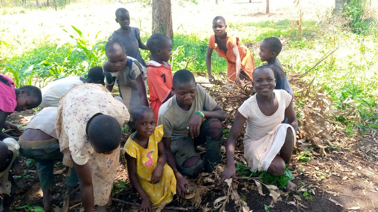 Fire wood activity – One day at Orphans of Uganda Children Center